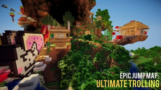 Minecraft Epic Jump Map : Ultimate Trolling 9 & 10