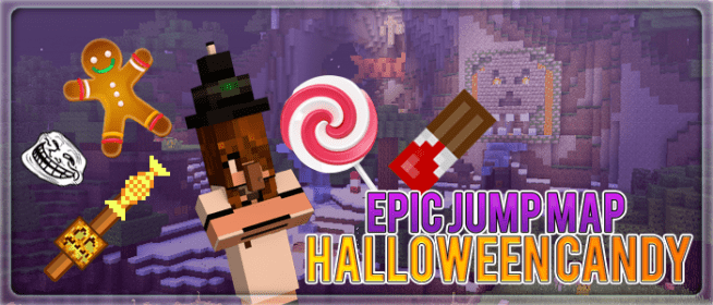 Epic Jump Map Halloween Candy 2 by SkyDoesMinecraft, bodil40, Deadlox and TrueMU.