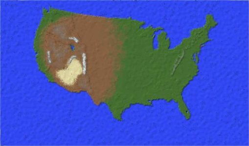 The Land of the Free – America map